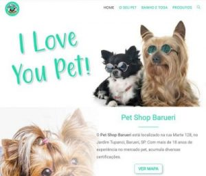 Criação do Site e Portfolio do Pet Shop Barueri